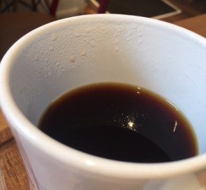 droplets on the side of a mug
