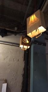menus and lampshades in Artisan
