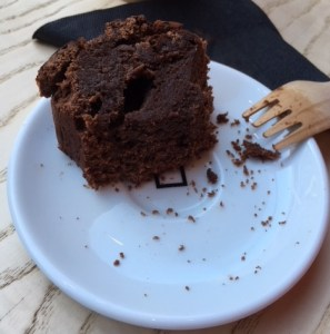 Omotesando Koffee, brownie with square revealed