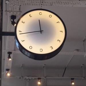 Coffee at Rosslyn, Mansion House, EC4N, coffee clock, base