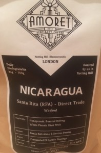Nicaragua, direct trade, Amoret, Java beans,