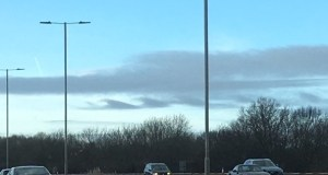 Kelvin Helmholtz instability in clouds over the M3 in January 2020