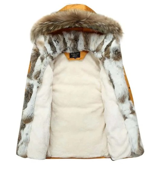 Bearboxers Mens Thick Fur Hooded Parka Coat - Bearboxers menswear