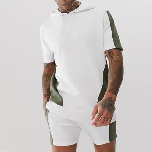 Mens Fashion Sportswear Fashion T-Shirts + Shorts Set