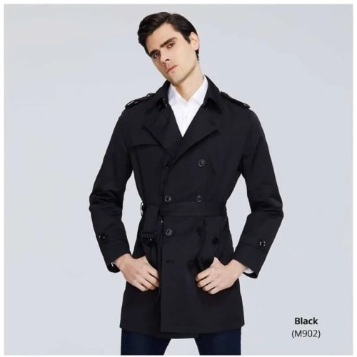 Bearboxers Men's Long Lapel Trench Coat