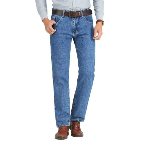 Straight Cut Stretch Denim Jeans MAN