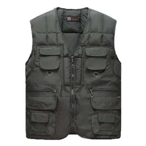 Warm Winter Vest With Pockets Sleeveless Jacket