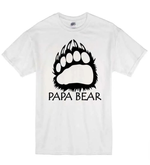 2019 New Hot Sale Men T-shirt Papa Bear Dad Father's Day Gift Christmas Daddy Unisex T-Shirt T Shirt Gift