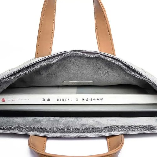 Portable Waterproof PU Leather Laptop Bag
