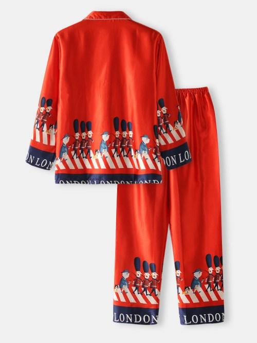 Bearboxers Mens Faux Silk Pyjama