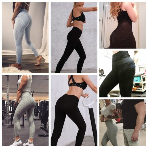 High Waist Yoga Pants for Women Tummy Control Ruched Butt Lifting Workout Scrunch Booty Leggings