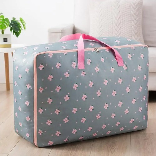 Handle Quilt Organizer Portable Clothes Storage Bag