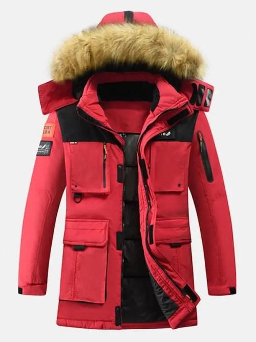 Bearboxers Menswear - Winter Multi-Pocket Zipper Coat
