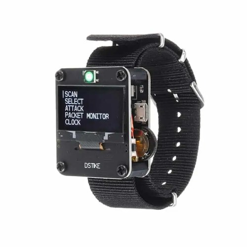 DSTIKE Red/Black Deauther Wristband Wifi Watch