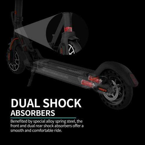 """HIBOY MAX V2 Electric Scooter - 8.5"""" Solid Tires Adult One Step Fold Electric Scooter"""