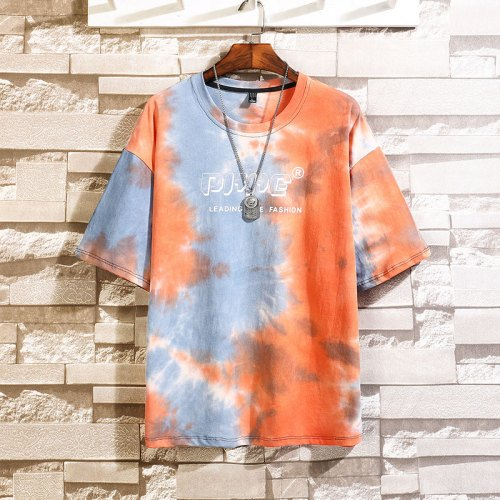 Single Road Mens Fashion Oversized Tie Dye Tshirt
