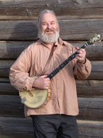 Gene with his trusty banjo