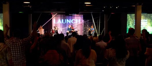 Victory Church: Launch Stage Design, during worship