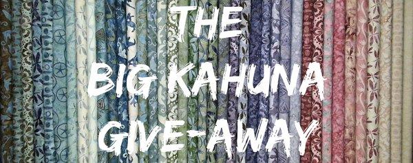 The BIG Kahuna Give-Away