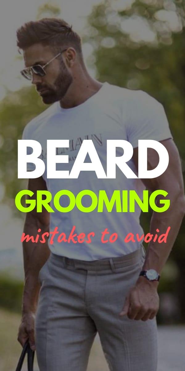 Beard grooming steps