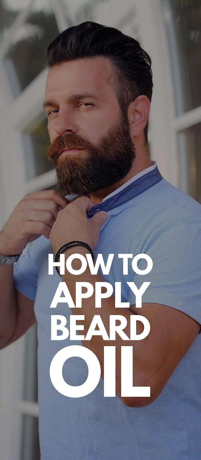 How To Apply Beards Oil