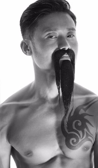 Fu Manchu With beard Look