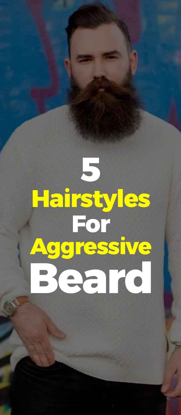 Aggressive Beard with short hairstyles for men!