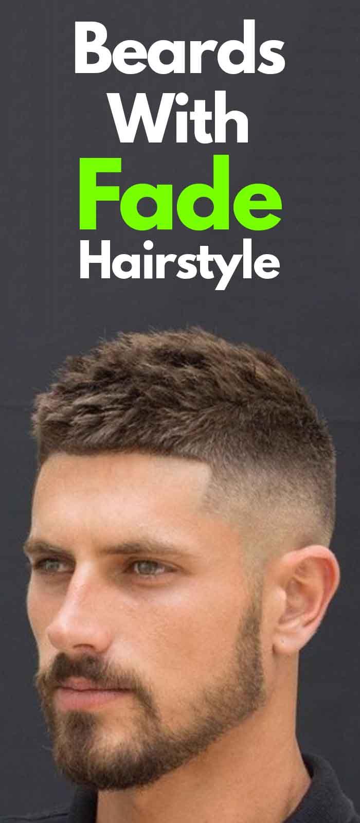 Fade Haircut with short Beard ideas for men!