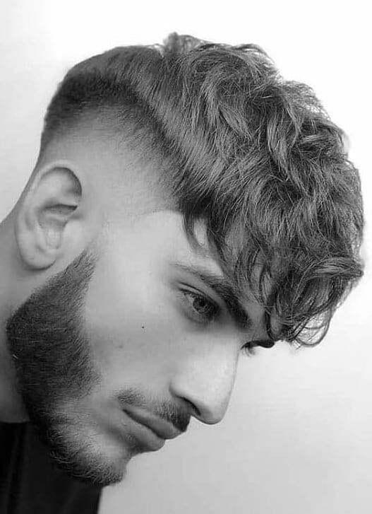 Faux Hawk Fade with Beard for men