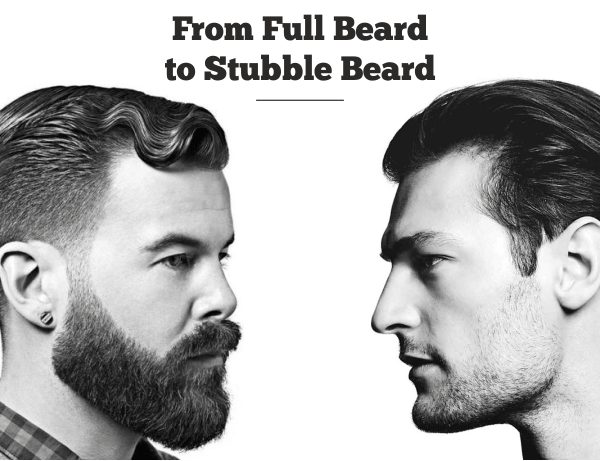 Fuller beard to a stubble beard!