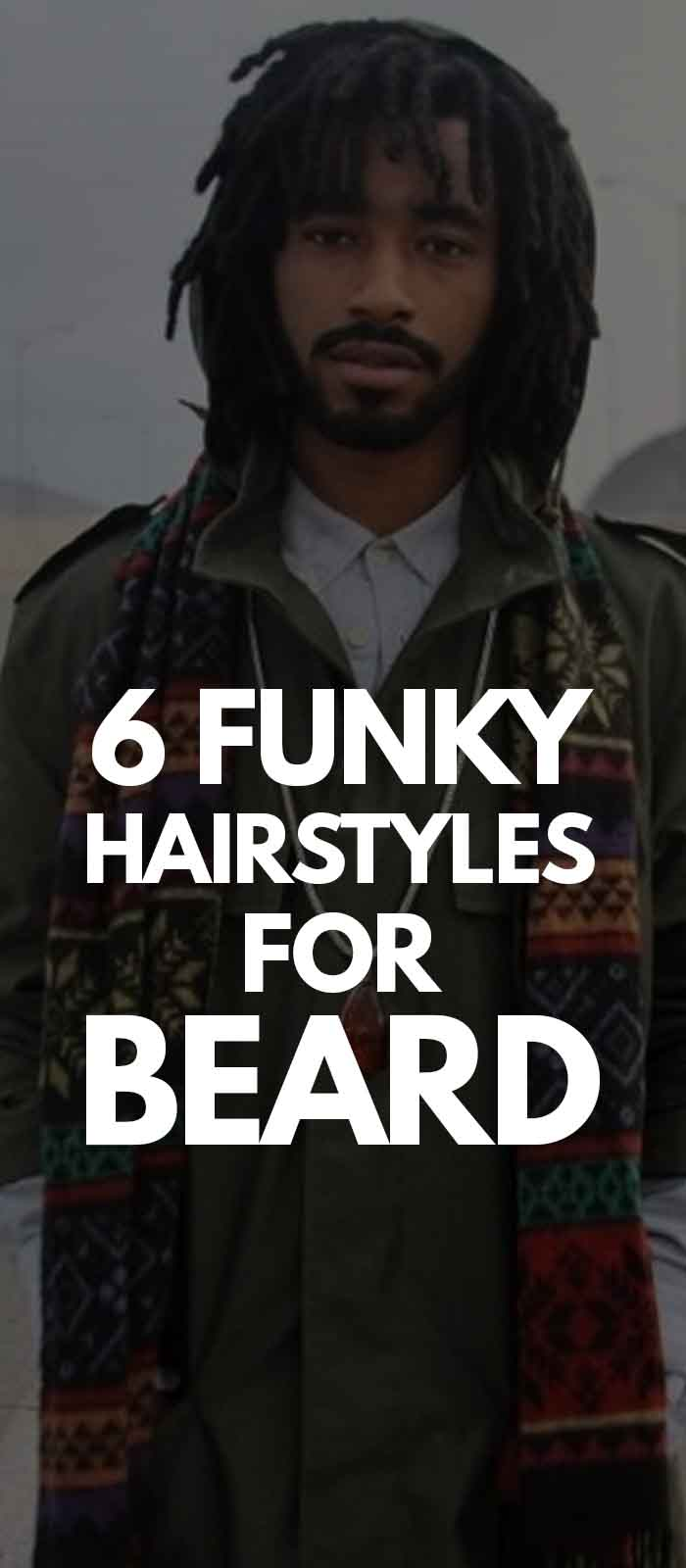 Funky Dreadlock Hairstyles for men with beard!