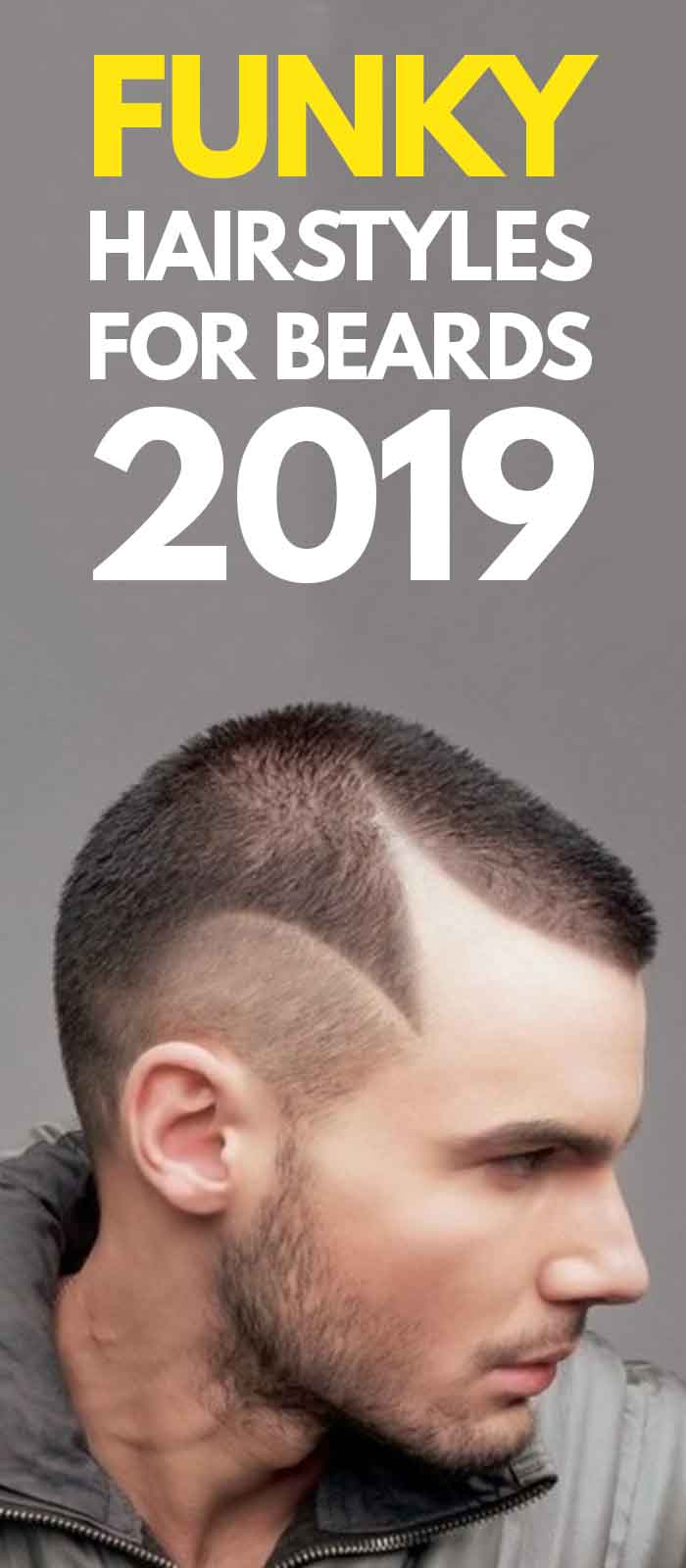 Funky Haircut For men with Beard!