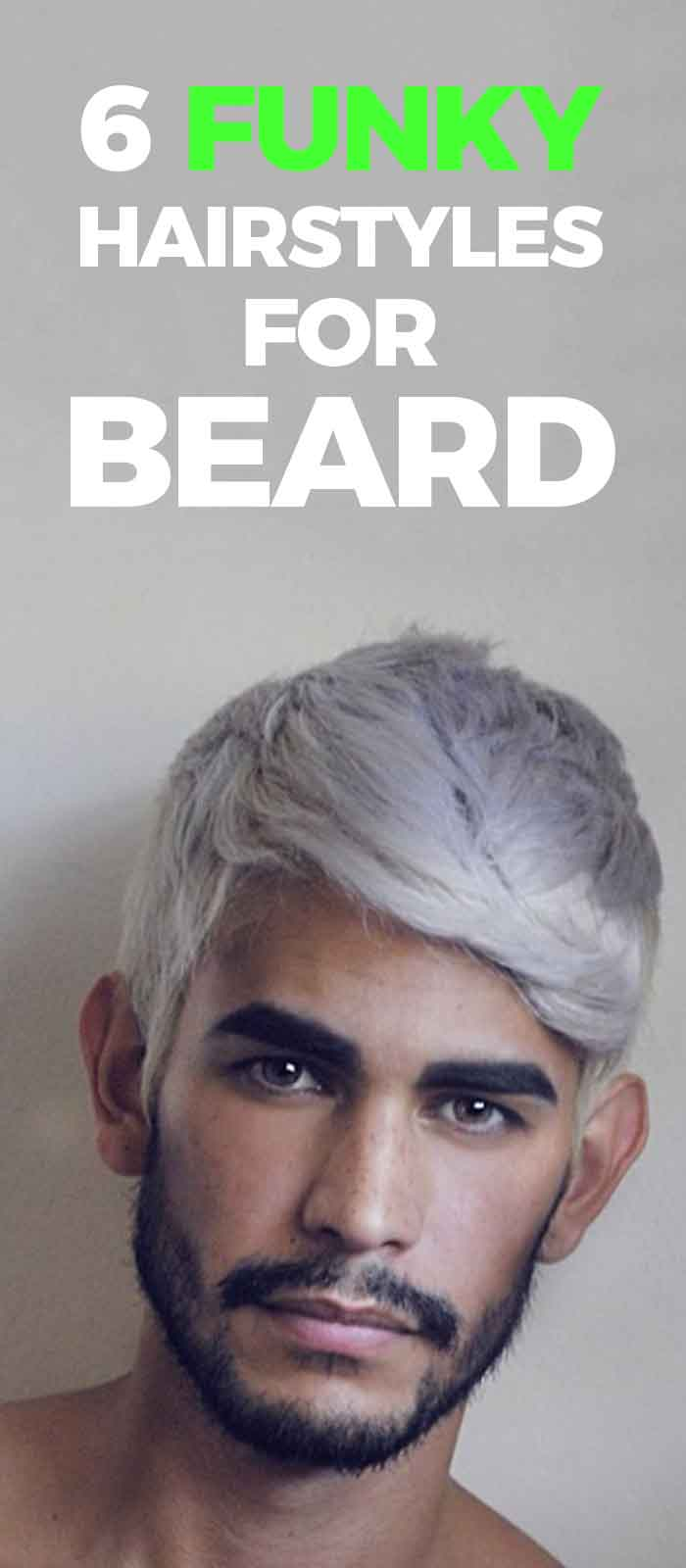 Funky haircolor and Beard look for men!