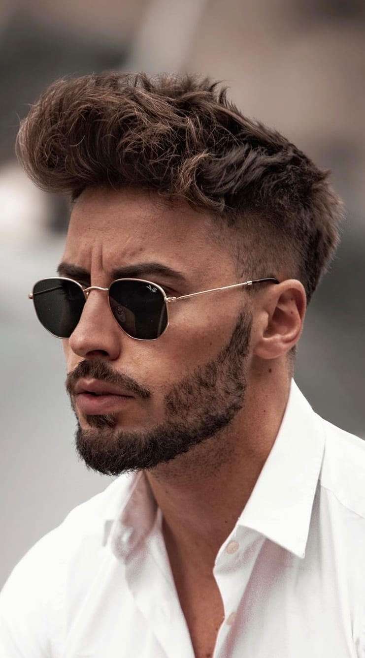 Sexy Hairstyle to cover up the patchy beard