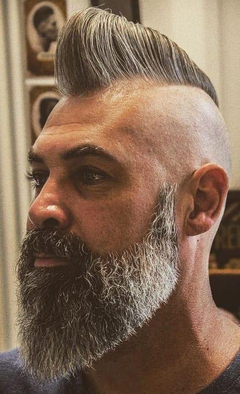 The Black and White Matured Duckatil Beard for men