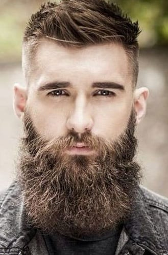 Thick Long Garibaldi Beard for men