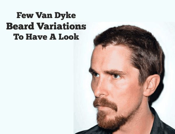 Van Dyke Beard Variations To Have A Look