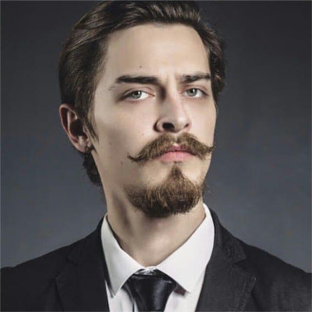 van Dyke man beard classic vintage