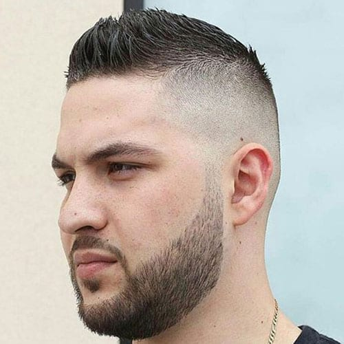 faux-hawk-hairstyle-with-stubble-beard