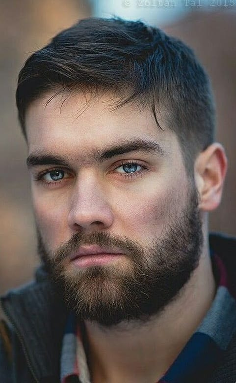 long stubble beard for men