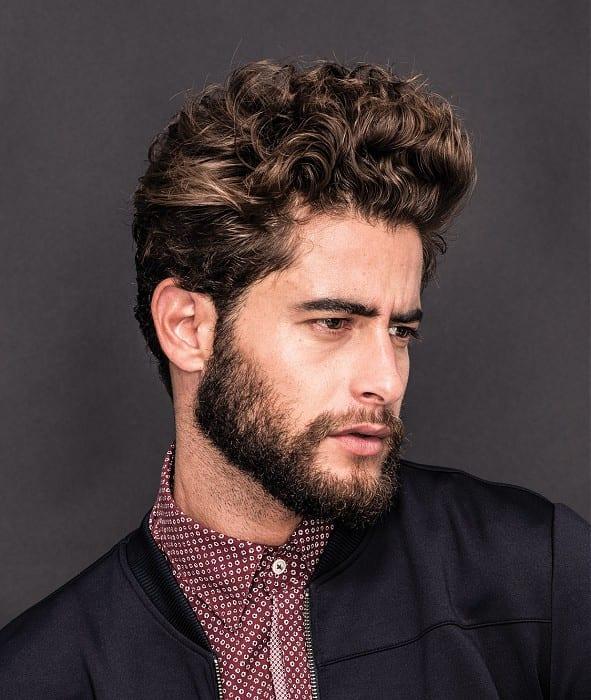 medium-stubble-medium-brown-curly-hairstyle