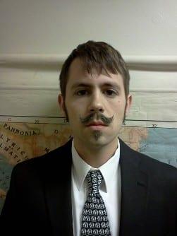 petite handlebar casual moustache daily routine men