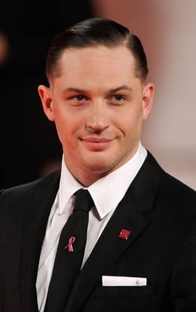 tom hardy clean shaved face look