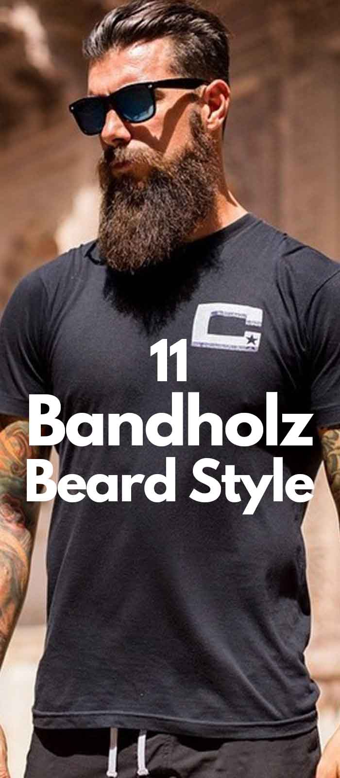 Sexy Long Bandholz Beard with Mustache style for men!
