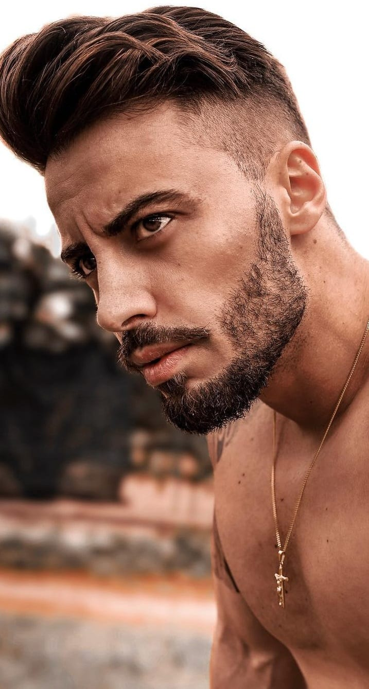 Sexy Sideburn Beard look for men
