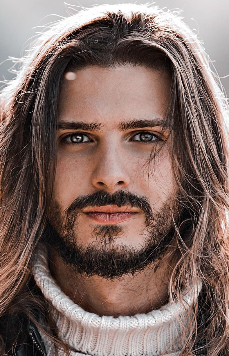 Long Hair and Beard Combinations