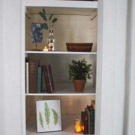 """How to Transform a Small Closet into a """"Built-In"""" Bookshelf"""