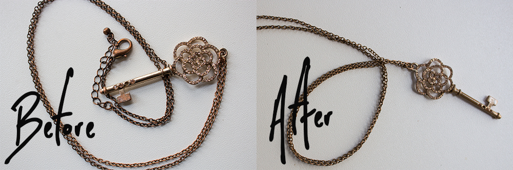 How to Fix Faux Gold Jewelry Before After 2