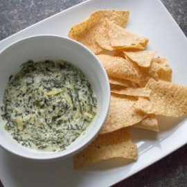 Slow Cooker Spinach + Artichoke Dip