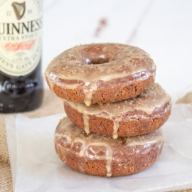 Chocolate + Guinness Baked Donuts